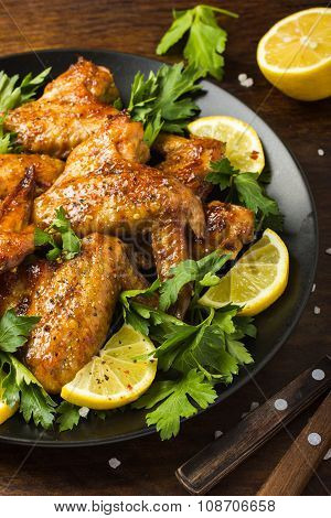 Roasted Chicken Wings With Parsley And Lemon