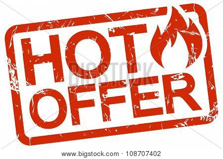 Red Stamp With Text Hot Offer