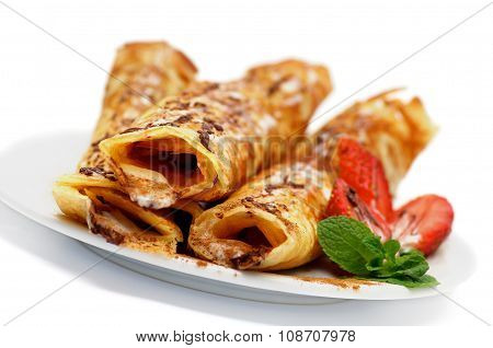 Pancake Tubules With Strawberry