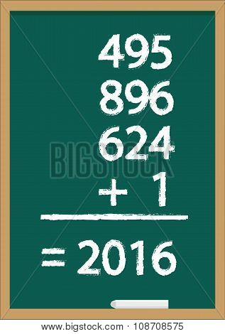 New Year on a Blackboard