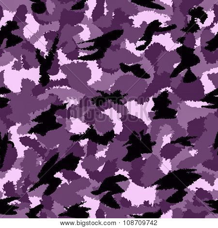 Urban Violet War Camouflage Seamless Pattern. Can Be Used For Wallpaper, Pattern Fills, Web Page Bac