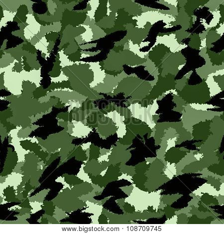 Forest Green War Camouflage Seamless Pattern. Can Be Used For Wallpaper, Pattern Fills, Web Page Bac