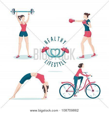 Sport woman set