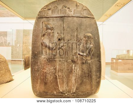 Two Soldiers On Relief Panel From Ancient Turkey Inside Historical Gallery