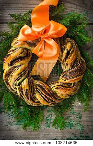 Saffron And Cinnamon Bread Wreath