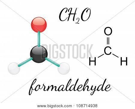 H2CO formaldehyde molecule