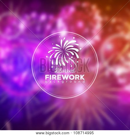 Vector Holiday Firework Blurred Background