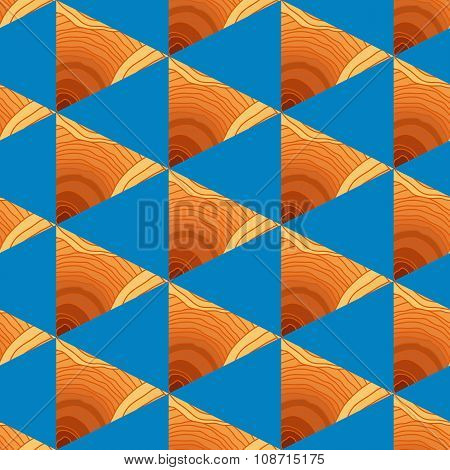 Abstract Seamless Pattern With Triangles