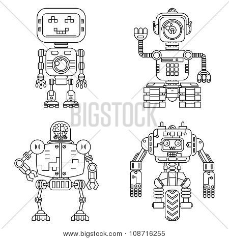 Robots linear style set