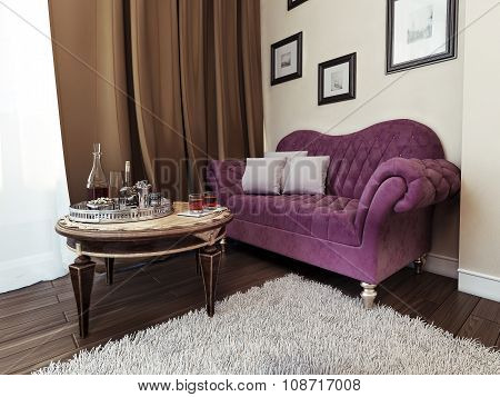 Sofa In Bedroom Avant-garde Style