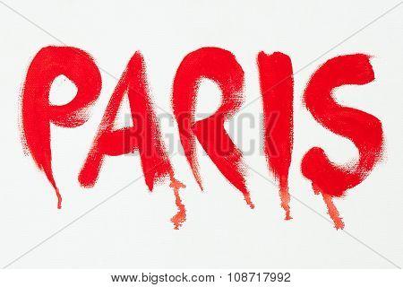 Painted Inscription Paris