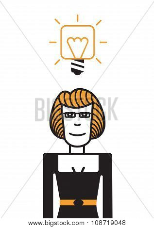 Woman with a good idea