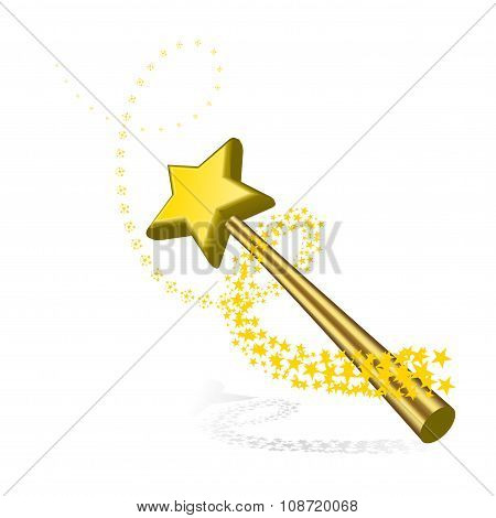 Magic wand vector illustration on white