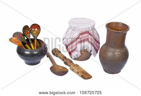 An  Old  Rustic  Utensils