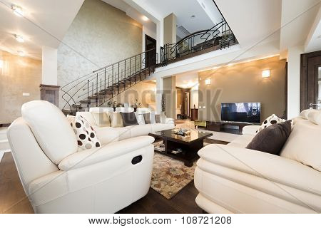 Multilevel Luxury Furnished Apartment Interior