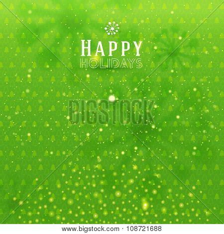 Green holidays background