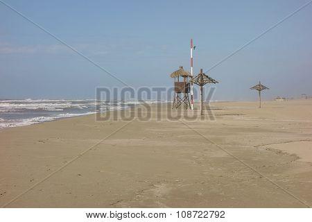 Sandy Beach Ostia, Italy