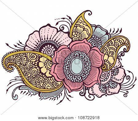 Doodle Flowers Floral