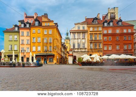 Castle Square in the morning, Warsaw, Poland.
