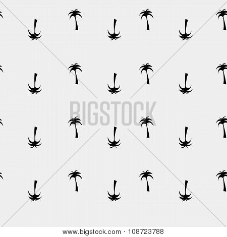 Vector seamless pattern. Modern stylish texture. Palm tree - stock vector