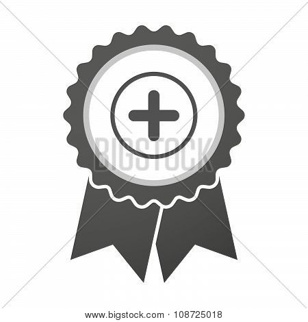 Vector Badge Icon With A Sum Sign