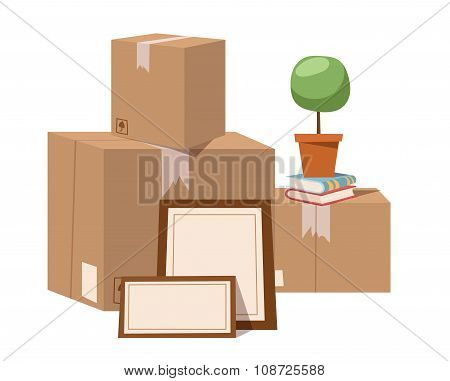 Move service box full vector illustration