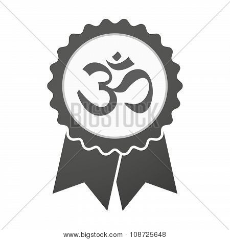 Vector Badge Icon With An Om Sign