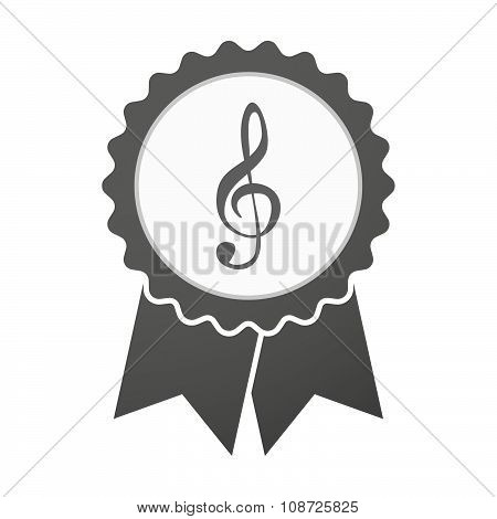 Vector Badge Icon With A G Clef