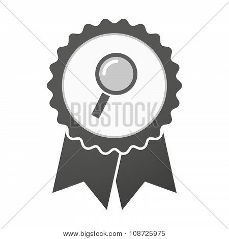 Vector Badge Icon With A Magnifier