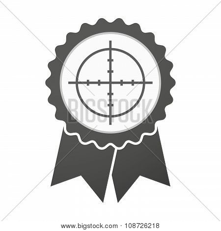 Vector Badge Icon With A Crosshair