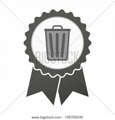 Vector Badge Icon With A Trash Can