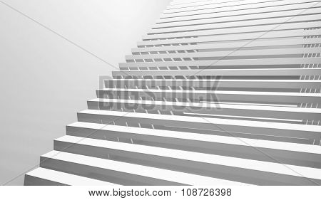 Abstract White Interior Background With Staircase