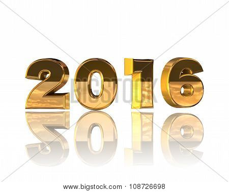 Isolate Of Gold Numbers For New Year