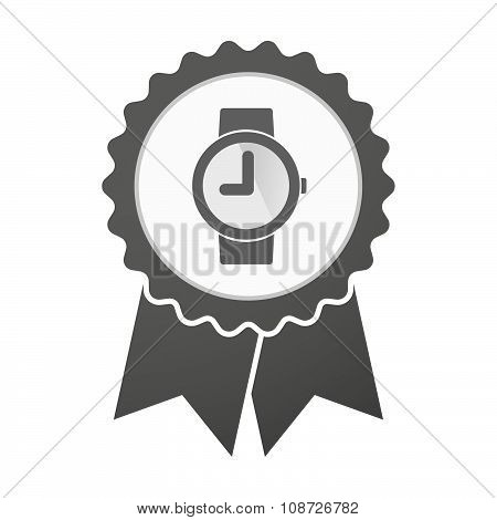 Vector Badge Icon With A Wrist Watch