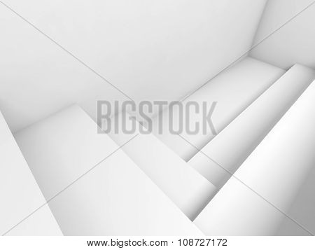 Abstract White Architecture Background, Room 3 D