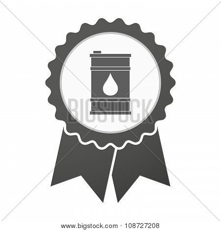 Vector Badge Icon With A Barrel Of Oil