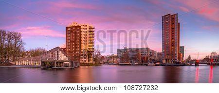 Groningen Centre At Sunset