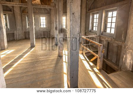 Interior Of A Wooden Church Tower