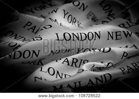 Draped Silk Fabric