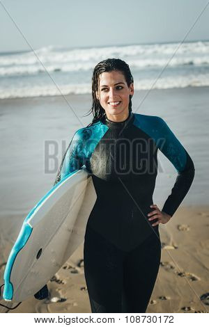 Female Bodyboard Surfer