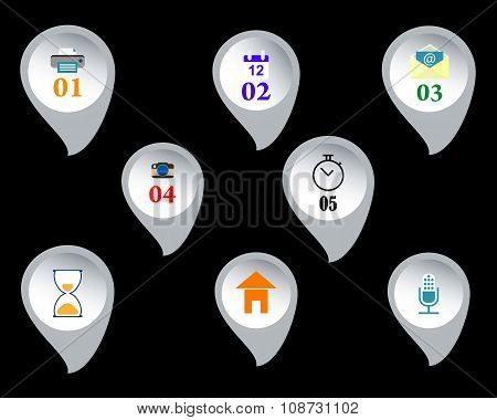 Web Buttons With Signs