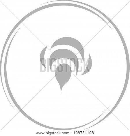 bee. Internet button. Raster icon.