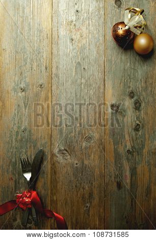 Christmas Menu Background Card