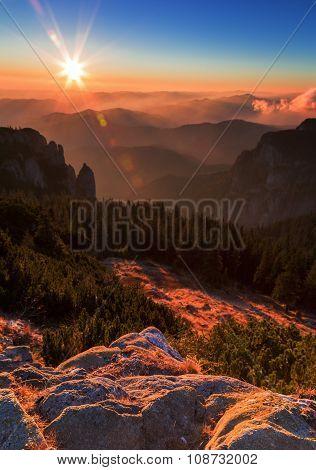 Sweet Sunrise  Sunset On The Mountain