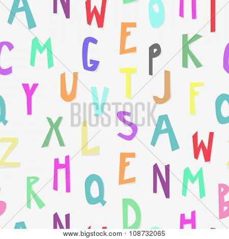 Kids Alphabet Seamless Pattern