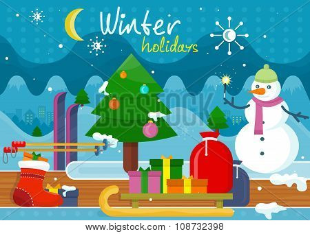 Winter Holidays Concept Design