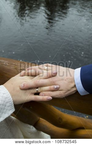 Hands Of Just Married Couple