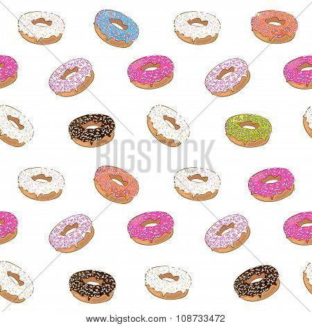 cute pattern with donuts