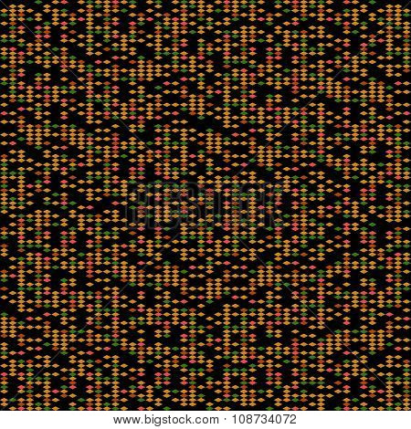 Abstract rhomb pattern. Scattering of tiny beads.