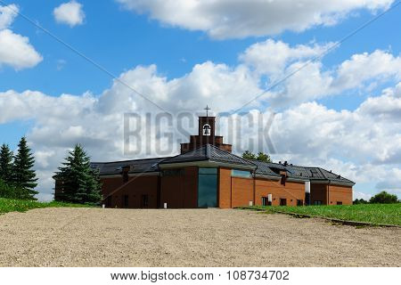 Cathedral Of Franciscans From A Red Brick